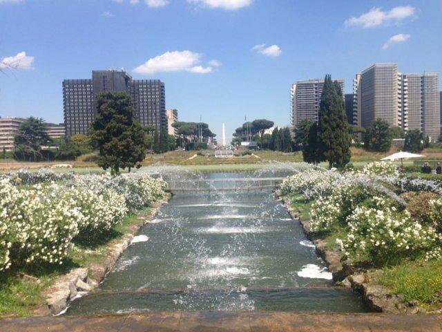 Giardino Delle Cascate Roma.Riaperto Il Giardino Delle Cascate All Eur Pietrangelo